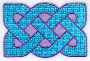 Machine embroidery Celtic knot
