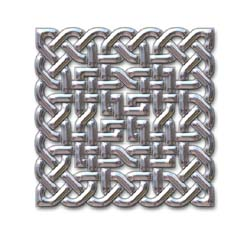 Chrome Celtic knot