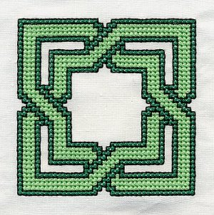 Celtic knot cross stitch pattern