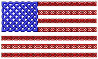 Celtic knot American flag