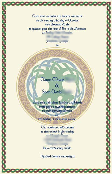 Celtic knot border wedding invitation This heart border created with the