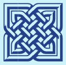 blue Celtic knot