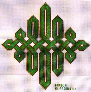 Celtic knot cross stitch design