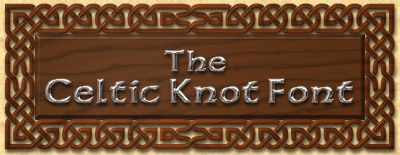 Woodcarved Celtic Knot Font sign