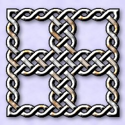 Chrome knotwork cross