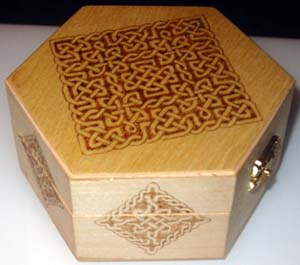 Box with pyrography Celtic knots