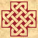 Inverse knotwork cross
