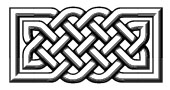 Celtic knotwork rectangle 3D Style
