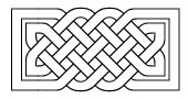 Celtic knotwork rectangle Outline Style