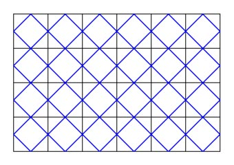 graph paper with diagonals