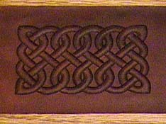 Celtic knot design in leather