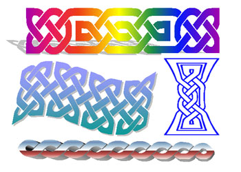 Word Art Celtic knots
